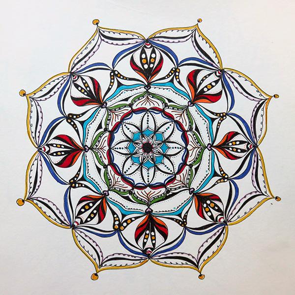 Mandala Fineliner Filzmarker