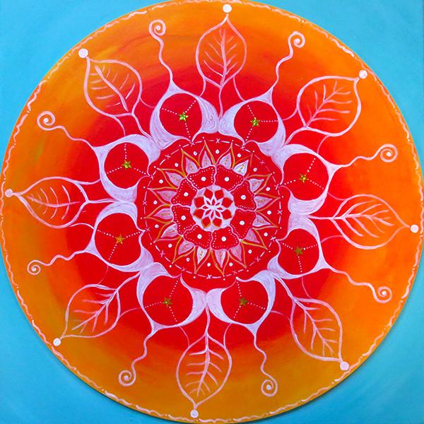 Mandala rund Acryl