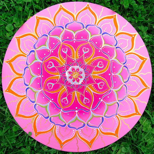 Mandala pink Acryl HDF