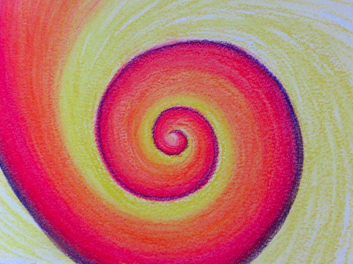 Spirale Pastellkreide